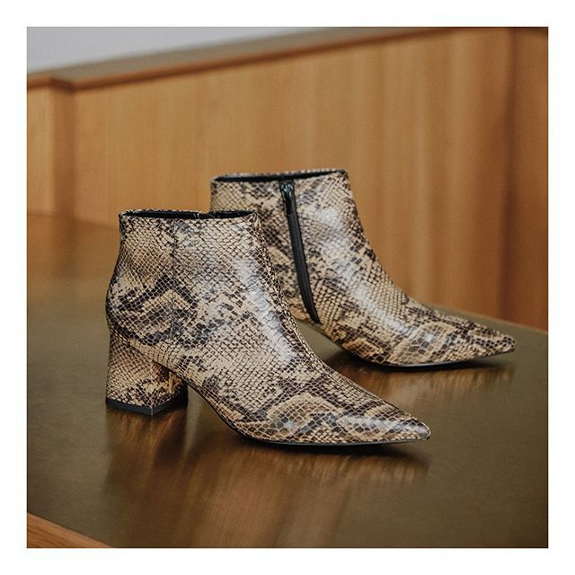 Trade in your neutrals for these. Take your outfit up a notch with this pair of boots guaranteed to charm. Tap to shop now.  Product featured: Snake print ankle boots  #CHARLESKEITHOFFICIAL #snakeprintbootsoutfit