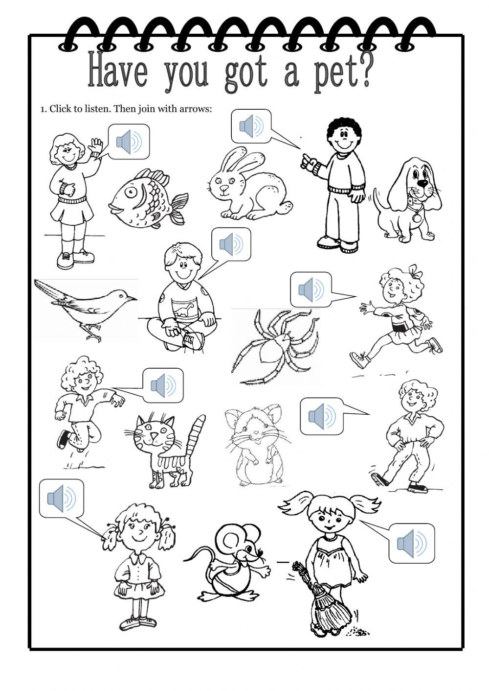 The animals interactive and downloadable worksheet. Check