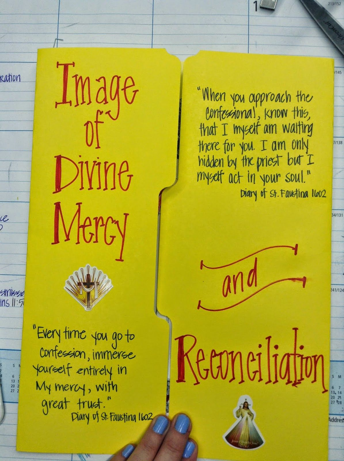 Image Of Divine Mercy And The Sacrament Of Reconciliation Lapbook Notebook Ideas From