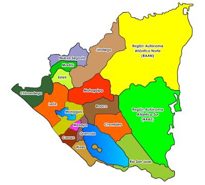 Geografia E Historia De Nicaragua Geografia Politica De Nicaragua Norte