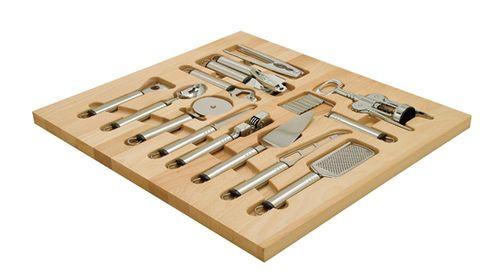 Wood Drawer Organizer Insert With Utensils From Hafele