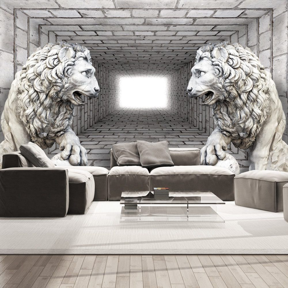 Wall Mural Stone Lions. Original wallpapers by GLIX