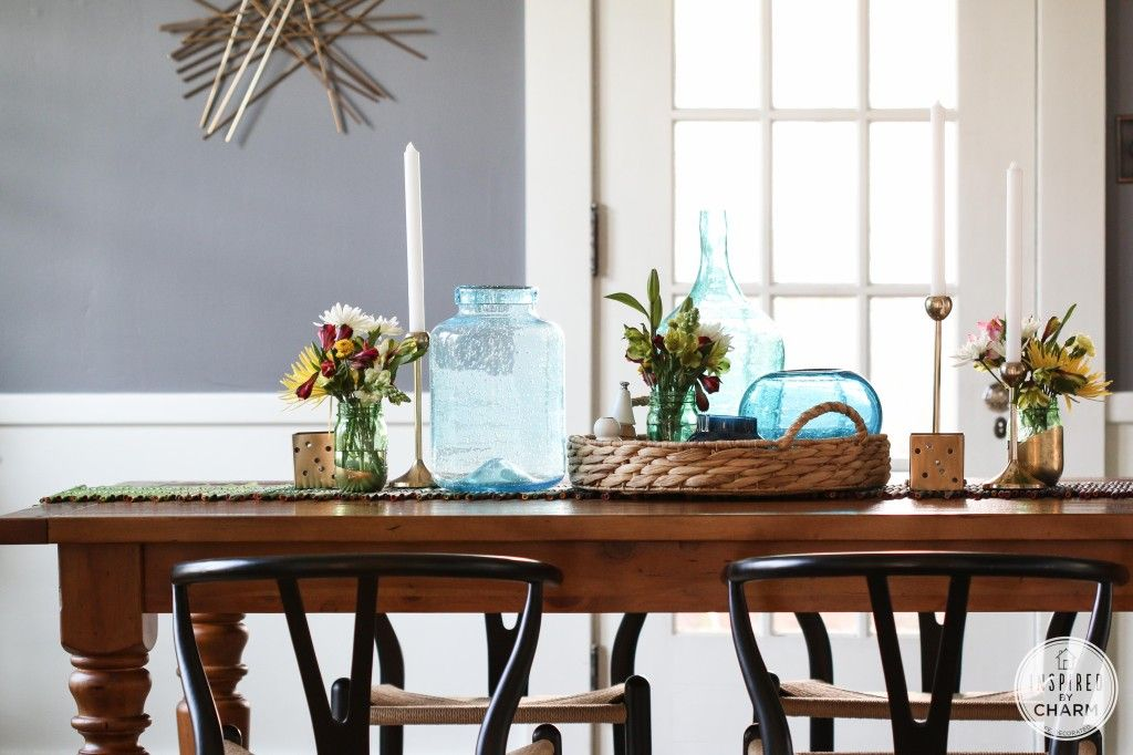 Dining Room Table Toppers Stunning Summer Home Tour 2014  Table And Chairs Summer And Blue Green Design Inspiration