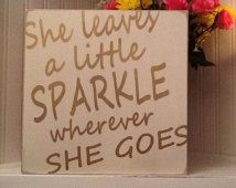 12x12 on wood in metallic gold She leaves a little sparkle wherever she goes