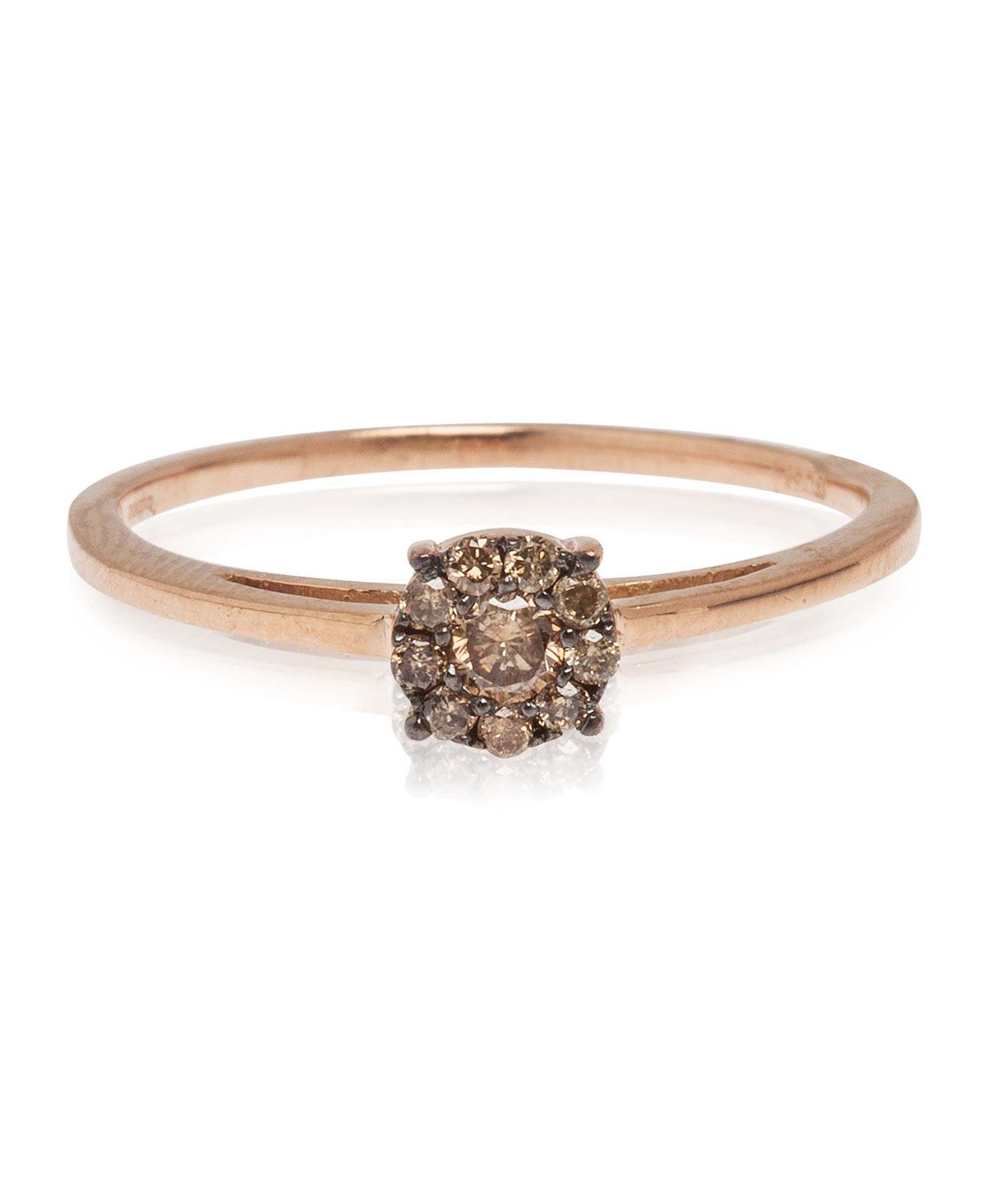 Champagne Diamond Rose Gold Cluster Ring, Suzanne Kalan. Shop the latest rings from the Suzanne Kalan collection online at Liberty.co.uk