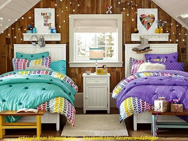 Dormitorio para dos adolescentes by - Decoracion habitaciones juveniles nino ...