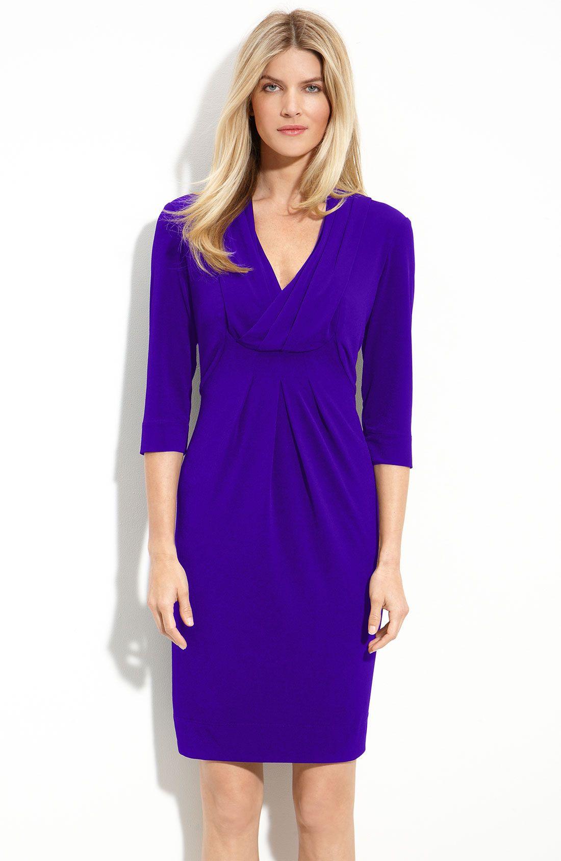 Donna Ricco Drape V Neck Jersey Dress Nordstrom Style