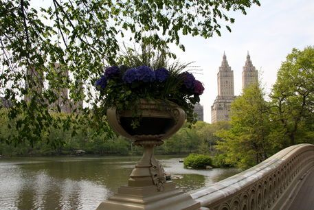 'Bow Bridge Flowerpot And San Remo NYC' by Christiane Schulze Art And Photography on artflakes.com as poster or art print $20.79
