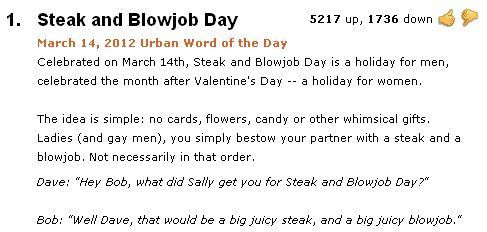 Blowjob urban dictionary