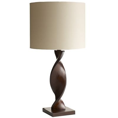 Twisted Table Lamp | Table lamp wood, Lamp, Table lamp
