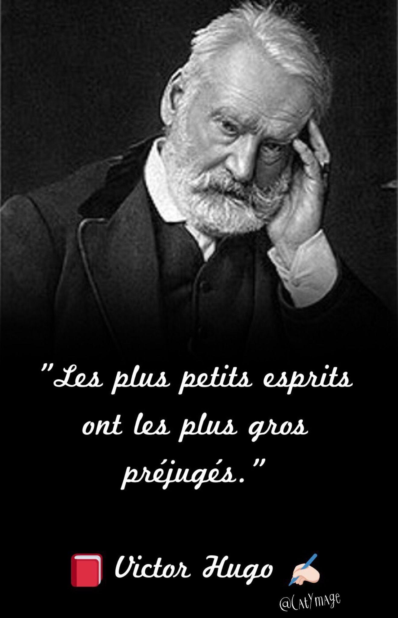 Les préjugés   Citations françaises célèbres, Victor hugo ...