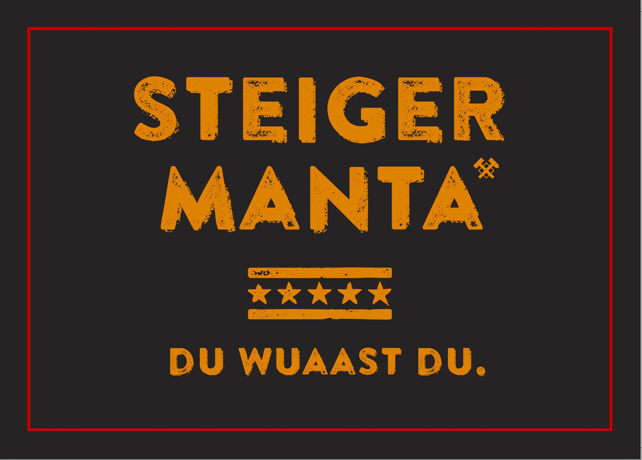 Steiger Manta Du Wuaast Du Outdoor Aufkleber Auto Sticker