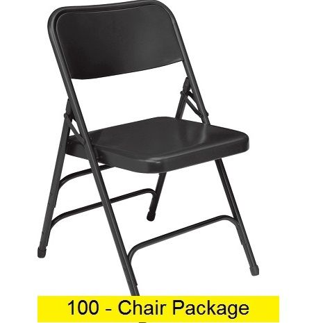 Premium Metal Folding Chairs Act Mc309as 100 Pack Folding