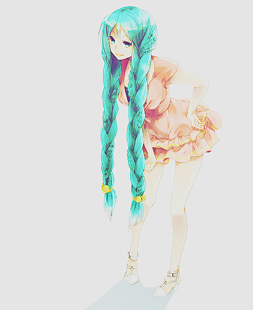 Blue Haired Anime Girl Anime Stuff Pinterest Anime Anime Art