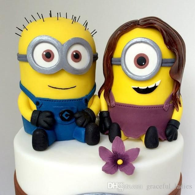 Funny Wedding Cake Toppers Custom Dispicable Me Minions Handmade ...