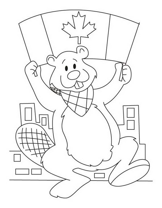 Canada Day Coloring Pages Canada Day Crafts Happy Canada Day