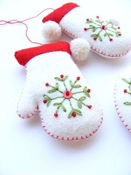 weihnachtsdekoration selber machen  nähen weihnachten