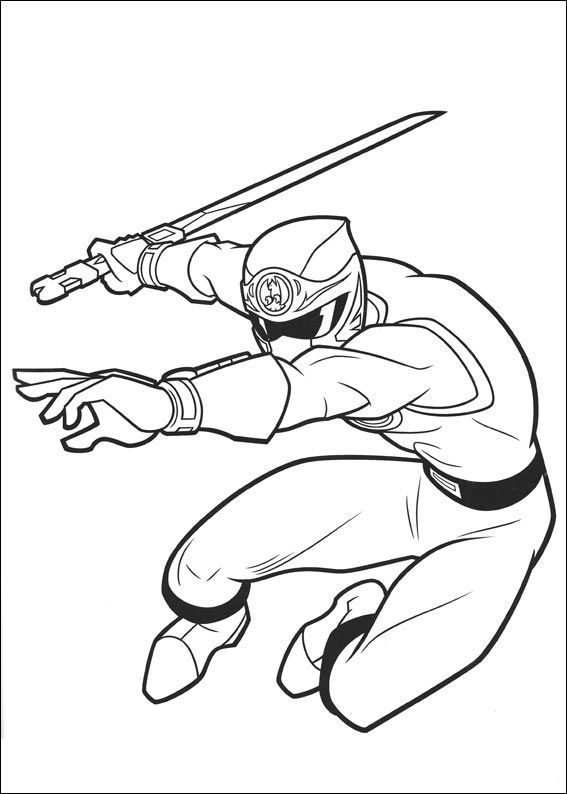 Power Rangers Attack With Sword | Power Rangers Coloring Pages ...