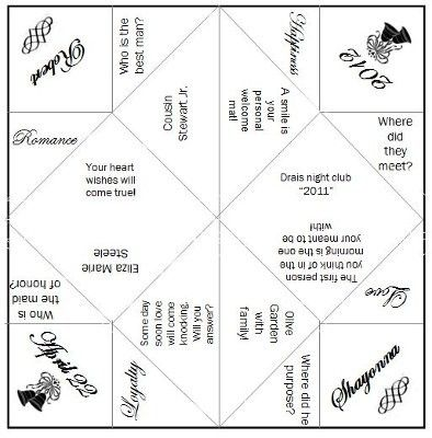 Wedding cootie catcher Catcher Weddings and Wedding