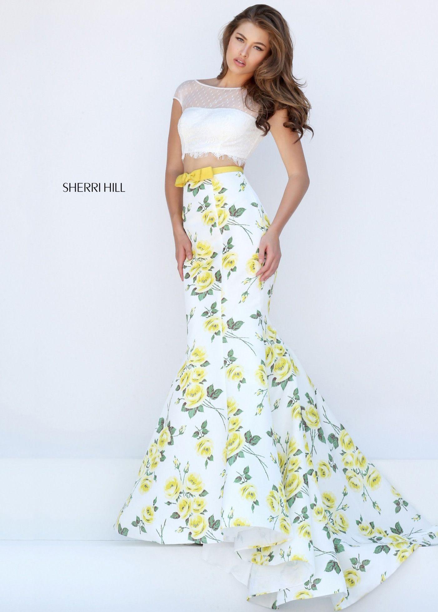Sherri hill fitted cap sleeve pc mermaid dress sale fancy