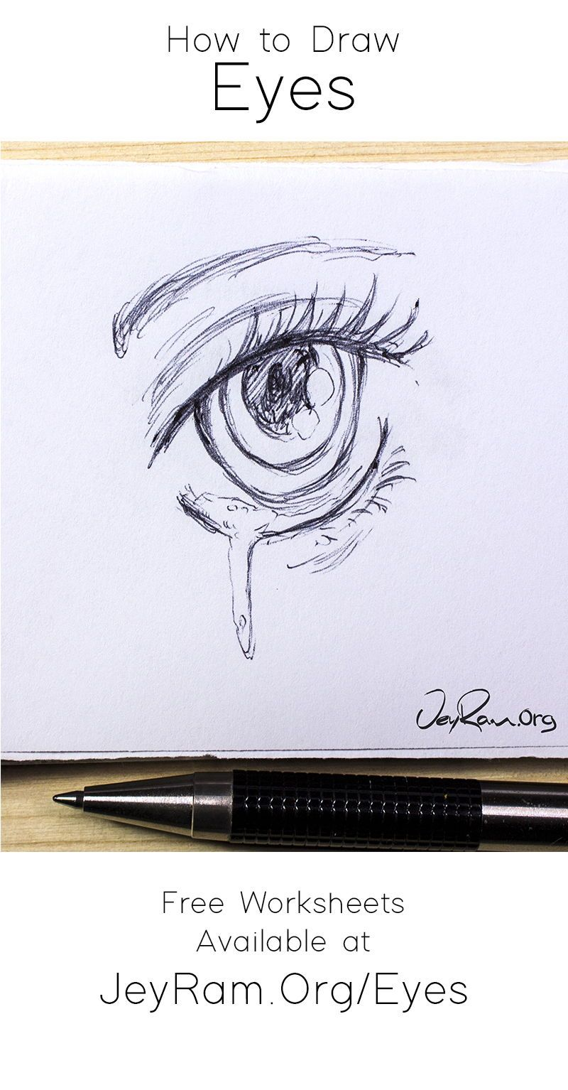 Learn how to draw the eyes using this step by step process