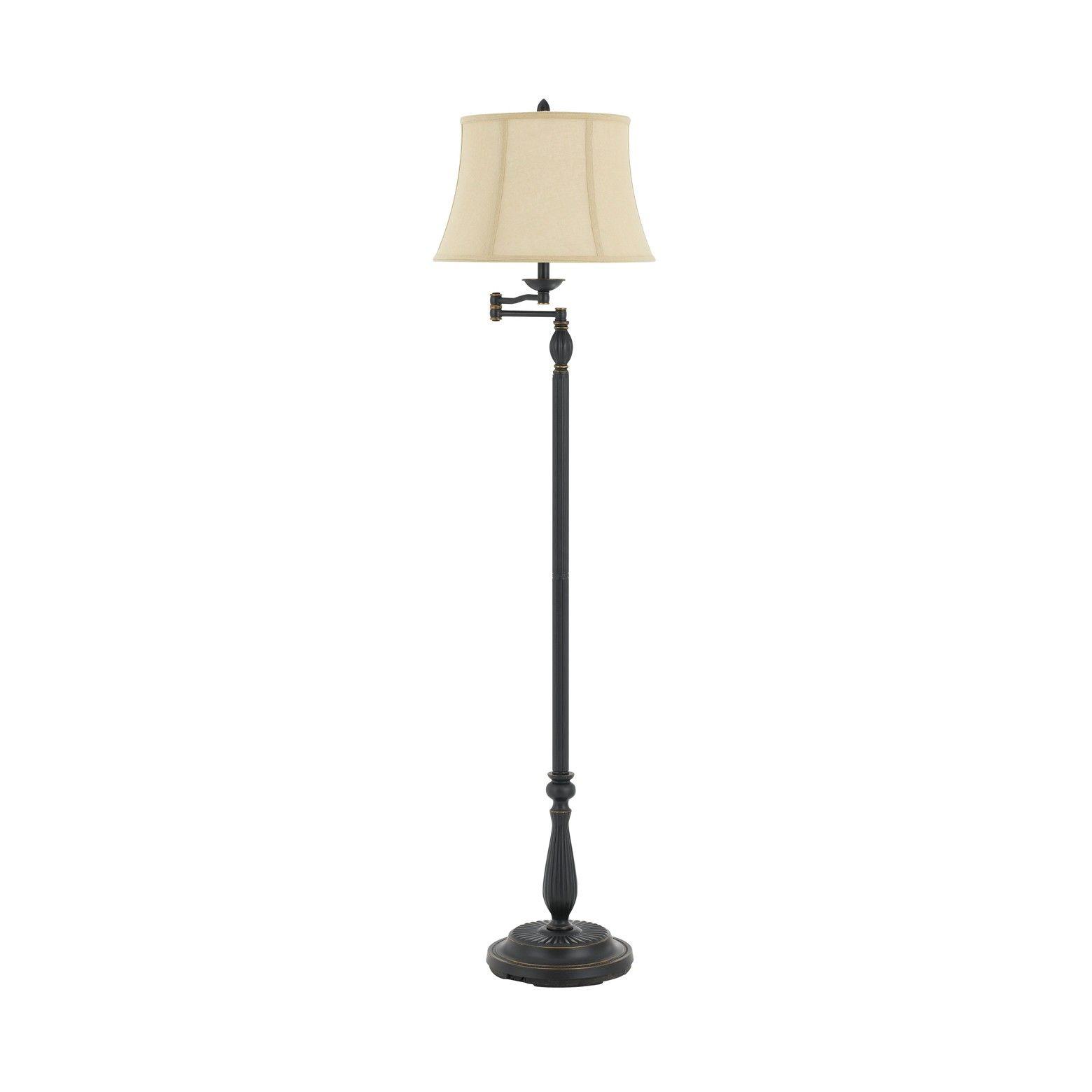 Cal Lighting Barnwell 61 5 Metal Resin Floor Lamp This Stylish Traditional Styled Swing Arm Floor Lamp Features Swing Arm Floor Lamp Cal Lighting Floor Lamp