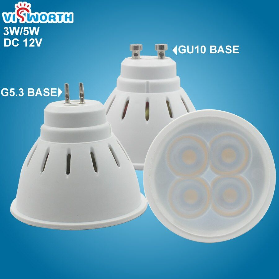 Gu10 Led Spotlight 3w 5w G5 3 Led Lamp Smd2835 Mr16 Led Lighting Ac Dc 12v Warm Cold White Led Bulb For Downlight Table In 2020 Spotlight Bulbs Led Spotlight Led Bulb