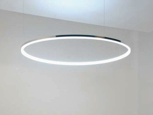 Plafoniere Quadrate Led : Lampada a sospensione led in alluminio circolo mini by sattler