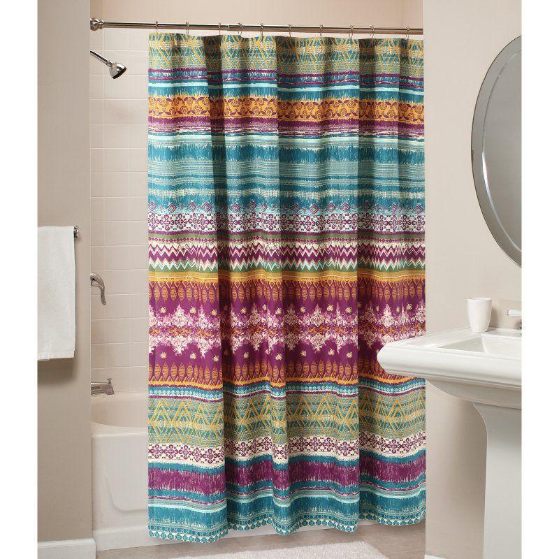 Greenland Home Fashions Maui Shower Curtain Beach Shower