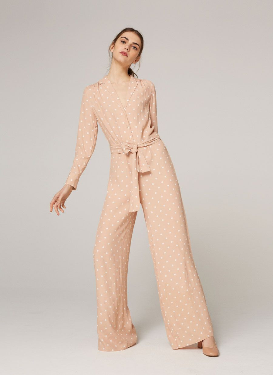 5d1864392b Long jumpsuit with tiny polka dots - Jumpsuits - Ready to wear - Uterqüe  United Kingdom