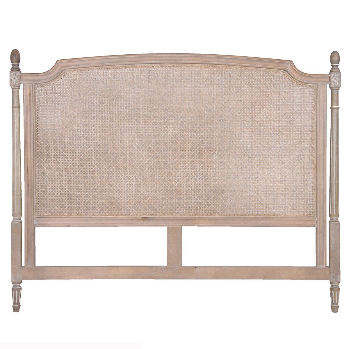 Chic Headboard, Rattan Lime-washed