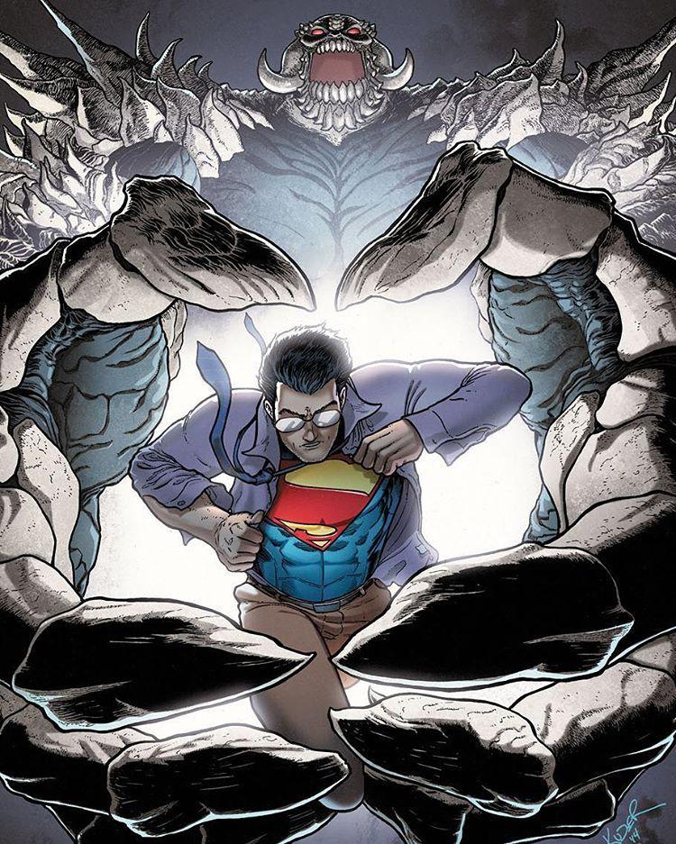 Action Comics (Volume 2) 31 Cover. #Doomed #GregPak #AaronKuder #Doomsday #DoomsdayKiller #New52ActionComics #ActionComics #SupermanNew52 #Superman #SupermanComics #ClarkKent #Kryptonian #ManofSteel #SonofKrypton #Superheroes #Metropolis #DailyPlanet #DC #DCComics #PrimeEarth #Comics #ComicBooks #DCUniverse #DCU #TheNew52 #New52 #DeathofSuperman #DawnofJustice #ComicsDune