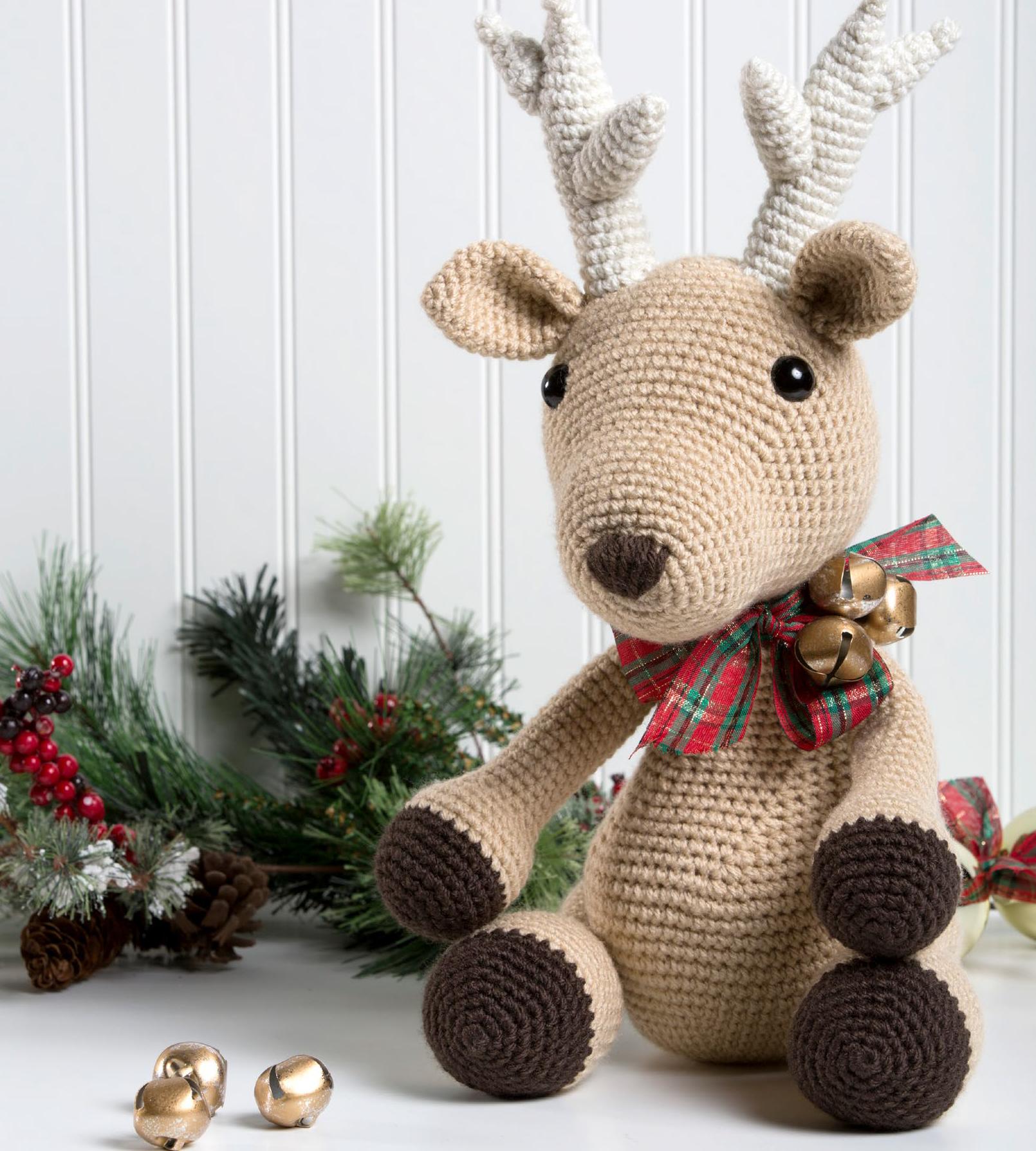Bucky The Reindeer Diy Stuffed Animal Holiday Decor Crochet A