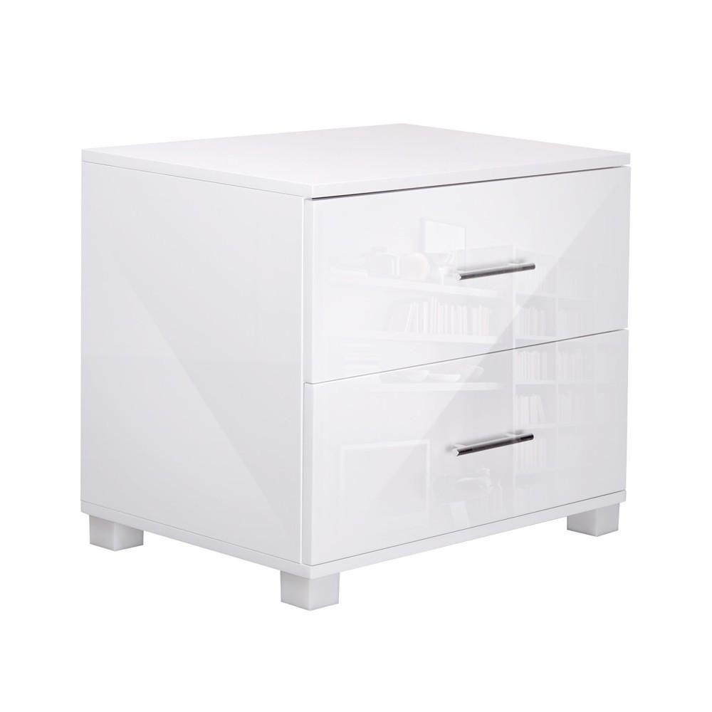 Best Sleek Gloss Bedside Table White In 2019 Bedside Cabinet 400 x 300