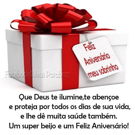 Feliz Aniversário Meu Sobrinho Que Deus Te Ilumine Te