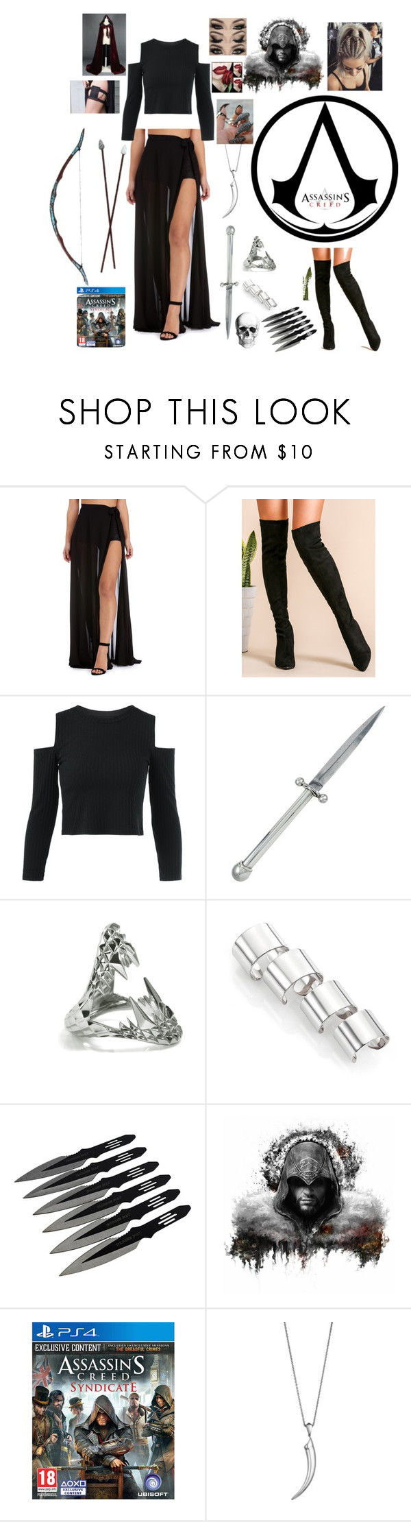 """Assassin in disguise"" by elizrose77864 ❤ liked on Polyvore featuring Kieselstein-Cord, Kasun, Maison Margiela, Shaun Leane and Bow & Arrow"