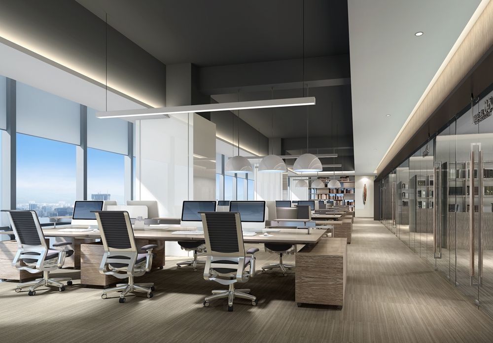 Open workspace with corridor ceiling | OFCU - Interior in ...