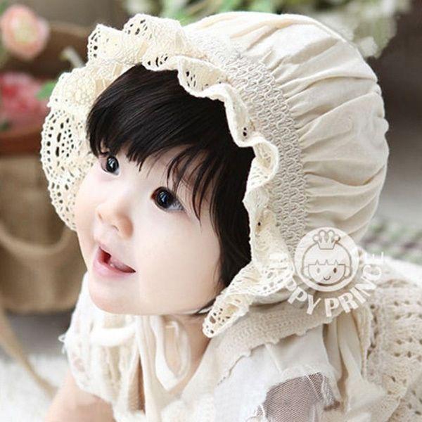 Haute qualité nouveau - né bébé filles coton chapeaux chapeau de soleil Bonnet nourrissons bébé Sunhat bonnets 0 - 8 mês