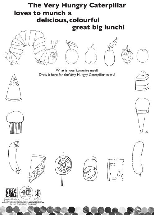 Colour The Very Hungry Caterpillar S Lunch Scholastic Book Club The Very Hungry Caterpillar Activities Very Hungry Caterpillar The Very Hungry Caterpillar