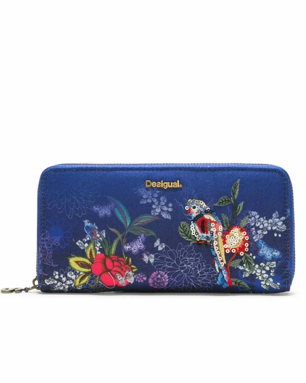 DESIGUAL Wallet BIRDPALM FIONA 18SAYF17 Blue  207a717ee2