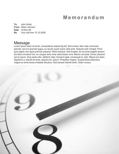 Clock memorandum Memo Template Free Pinterest - memo sample in word