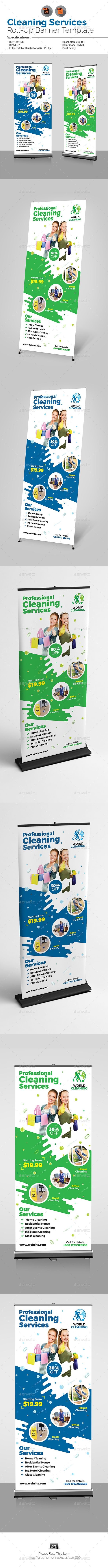 Cleaning Service Roll Up Cleaning Services Cleaning Service And
