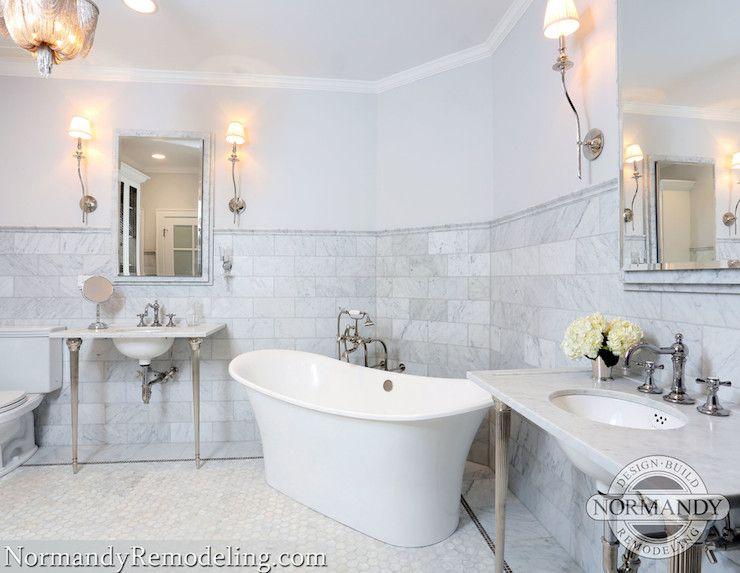 Corner Bathtub Transitional bathroom Normandy