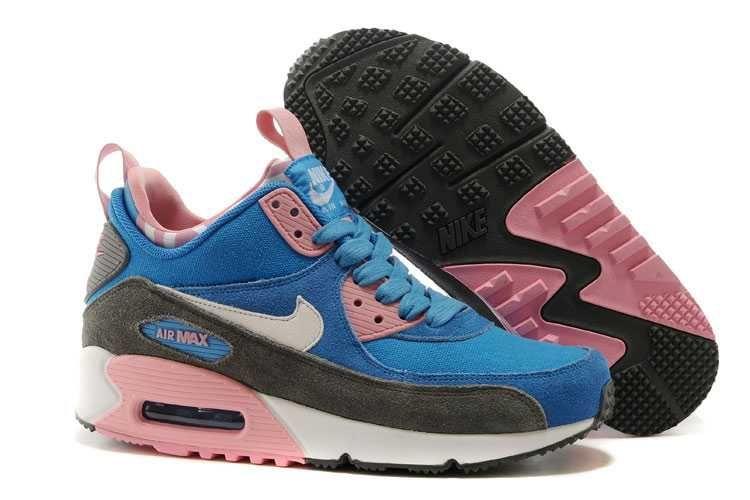 1830 Nike Air Max 90 Sneakerboot Dam Rosa Bla Rosa Vit Se589561fejluvo Nike Shoes Air Max Cheap Nike Air Max Nike Air Max