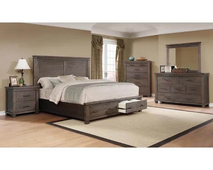 Carter Series 6pc Queen Storage Bedroom Set In Multi Tone Msrb020 Bedroom Set Beautiful Bedroom Set Bedroom Sets Queen