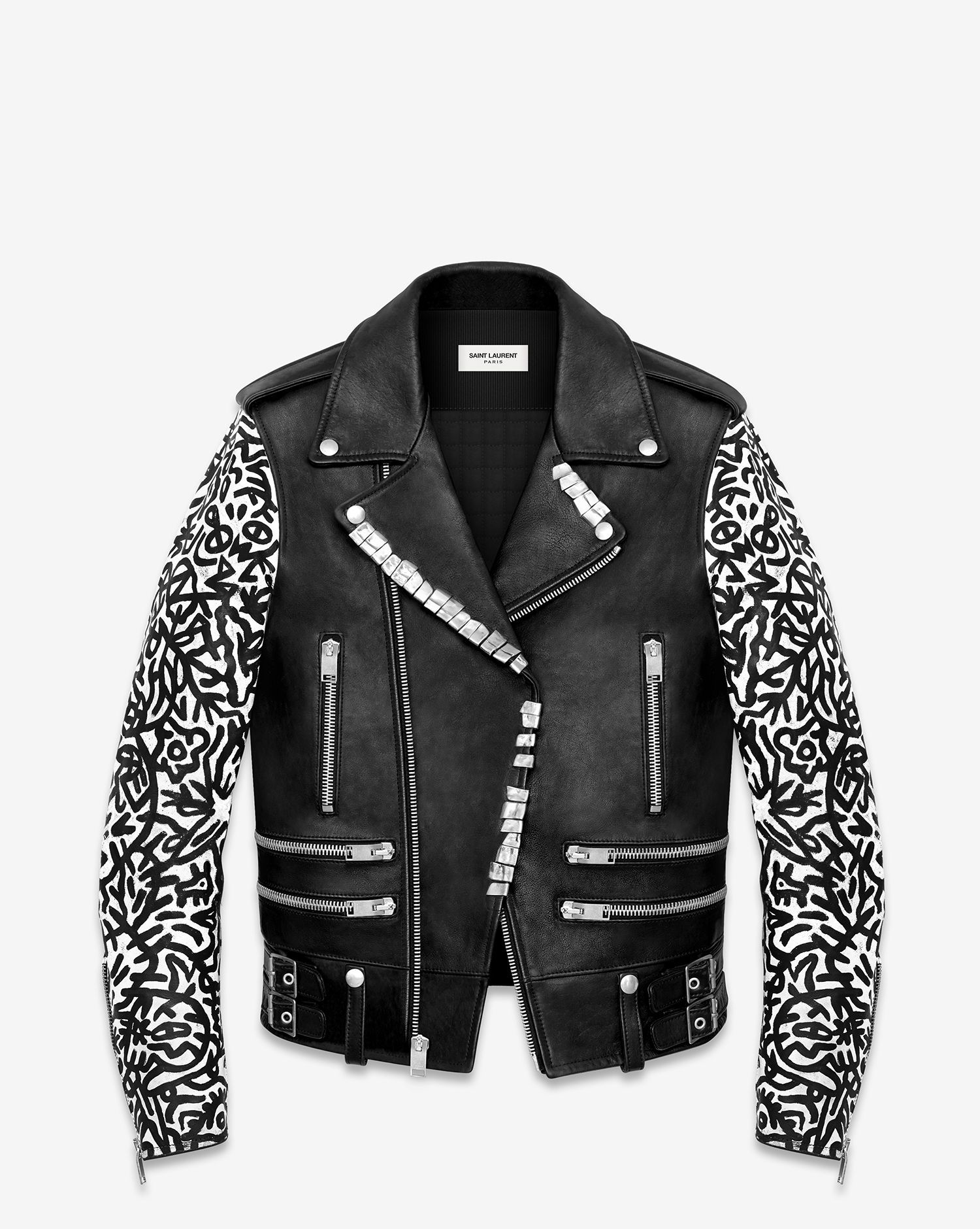 9a391d4ea22 Saint Laurent Signature Sumi Ink Club Motorcycle Jacket In Black Leather
