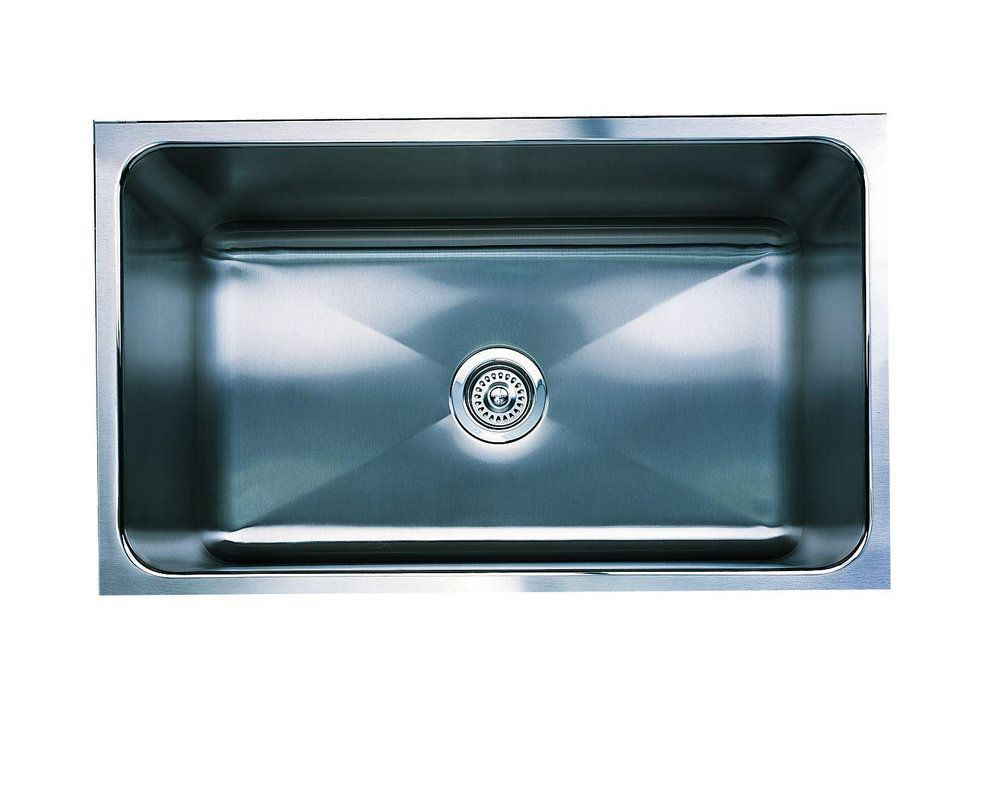 Blanco 440302 Magnum Single Basin Stainless Steel Kitchen Sink with ...