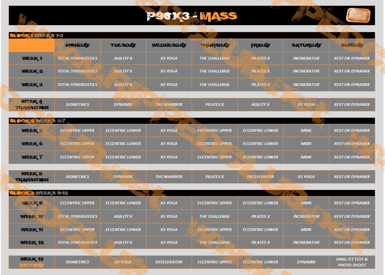 Rockin Body Workout Calendar Printable