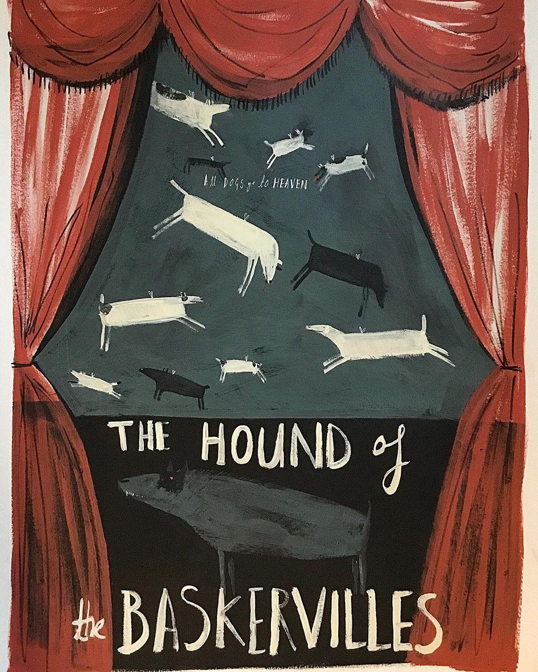 "Angela Smyth on Instagram: ""The Hound Of The Baskervilles - A favourite film of mine. #artistlife #artoftheday #artoninstagram"""