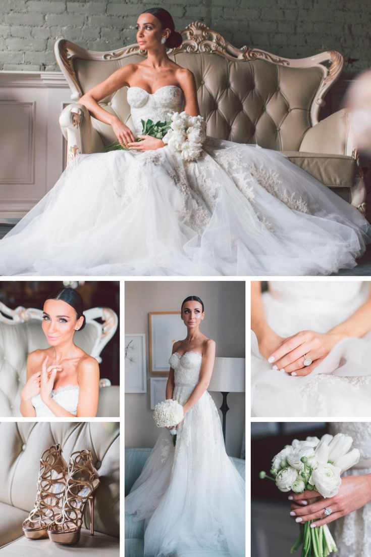 Wedding Looks: 9 Bridal Gowns, Hairstyle, Shoes & Bouquet Ideas ...